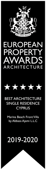Best Architecture Single residence Cyprus Marina Beach Frnt villa by Abbass Ajami LLC
